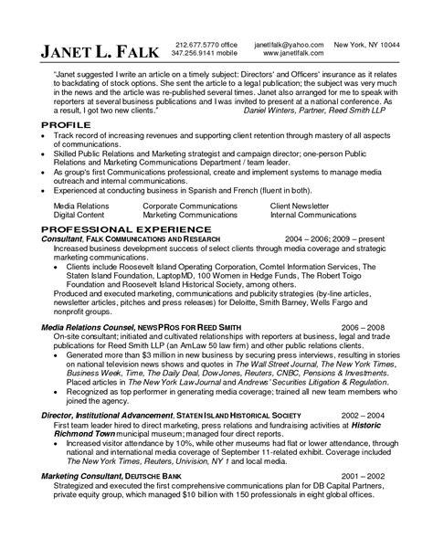 public relations resume resume badak