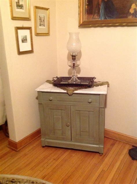 chalk paint on marble sink with marble top painted chateau grey