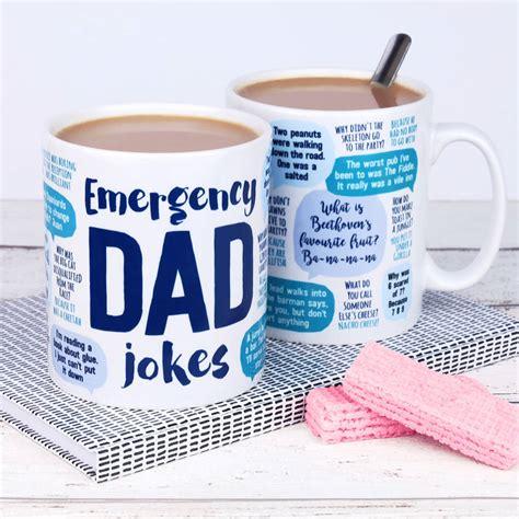 Funny Coffee Mugs emergency dad jokes mug by paper plane