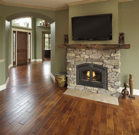 paint colors for living room with fireplace the green and the floors the paint color is benjamin