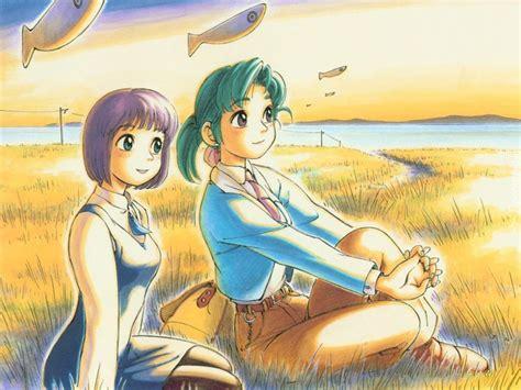 Dziewczyny łąka Yokohama Kaidashi Kikou