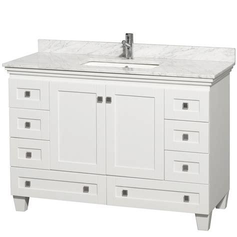 white vanities bathroom acclaim 48 quot white bathroom vanity set