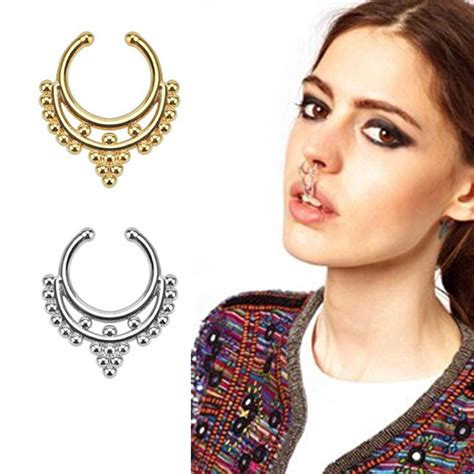 how to make septum jewelry surgical steel titanium gold silver plated nose ring