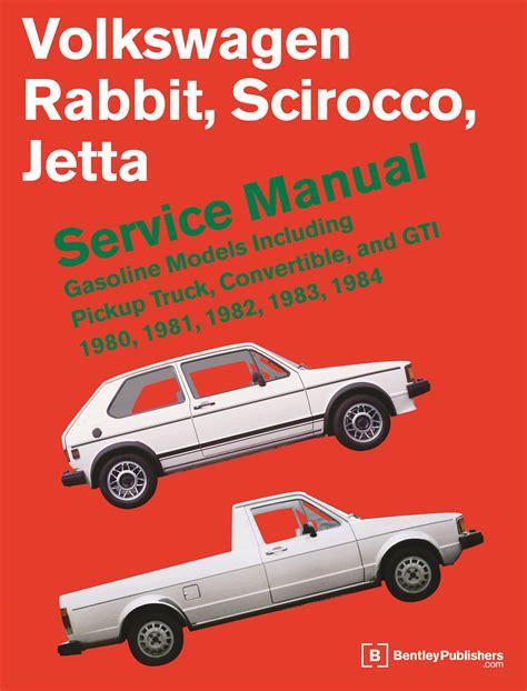 front cover vw volkswagen repair manual rabbit scirocco jetta 1980 1984 bentley