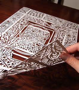 paper cutting craft work paper cut white cabana