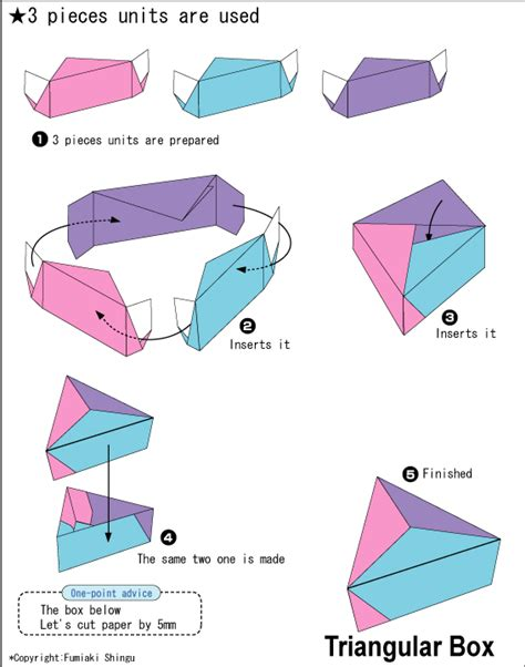 www origami club origami triangular box packaging