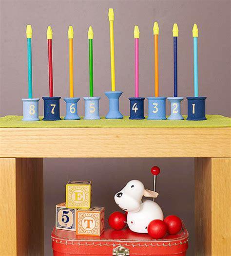 hannukah crafts for cool hanukkah menorah craft