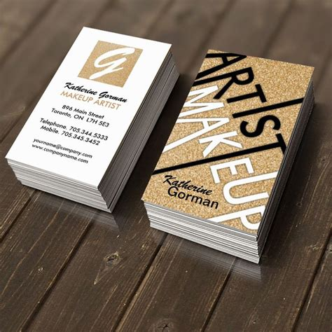 business cards make fully customizable makeup artist business cards created by