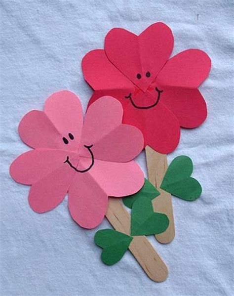 flower craft with paper popsicle sticks crafts for 30 creative diy