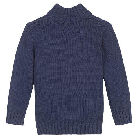 navy blue knit sweater 3 pommes boys navy blue knitted sweater bumpalumpa