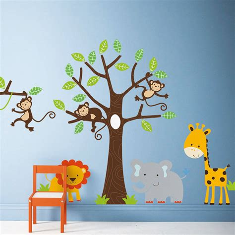 Large Childrens Wall Stickers children s jungle wall stickers by parkins interiors