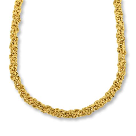gold chain for jewelry rope chain necklace bronze 14k gold plated 18 quot length