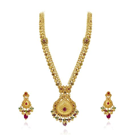 jewelry gold collections ethnic indian jewelry gold necklace set