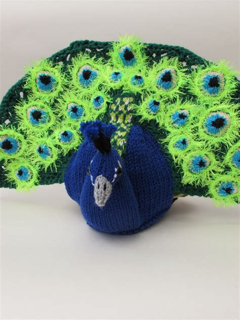 peacock knitting pattern peacock tea cosy knitting pattern