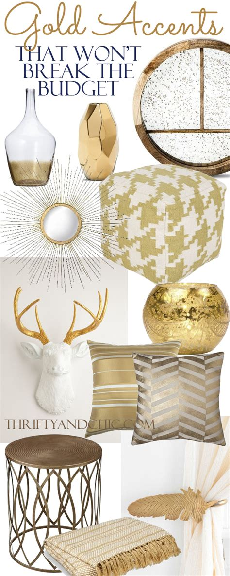gold decor thrifty and chic diy projects and home decor