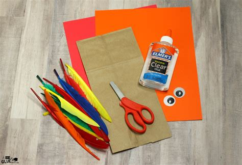 craft paper store how to make a paper bag turkey craft for thanksgiving