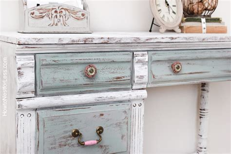 chalk paint distressing distressed chalk paint desk makeover how to nest for less