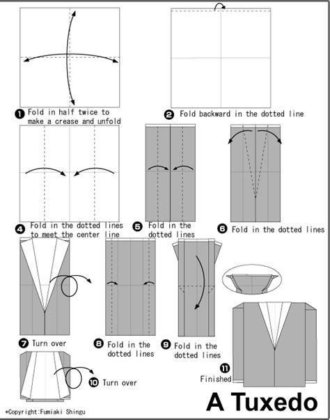 origami suit origami tuxedo jacket origami pliage