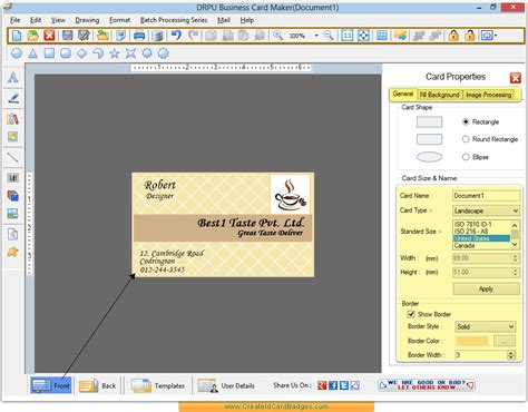 business card software business card maker software create visiting cards