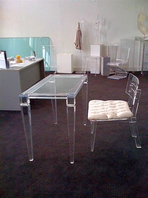 lucite office desk lucite clear office desk