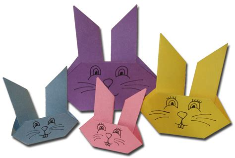 origami easter bunny paper crafts for children 187 easter