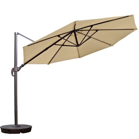 patio cantilever umbrella island umbrella freeport 11 ft octagon cantilever patio