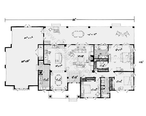 one story house blueprints one story house plans with open floor plans design basics