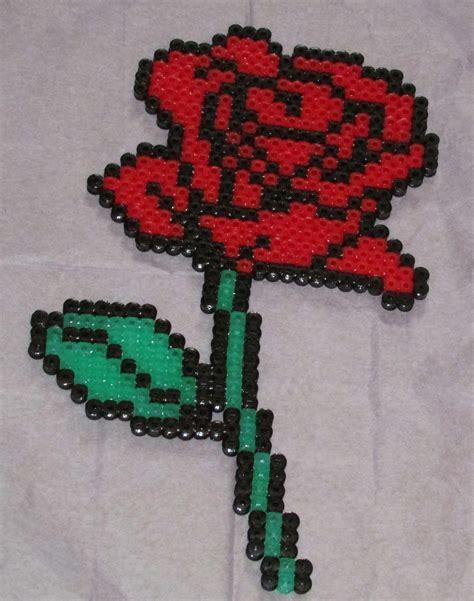 bead of roses hama perler by keely jade perler bead designs