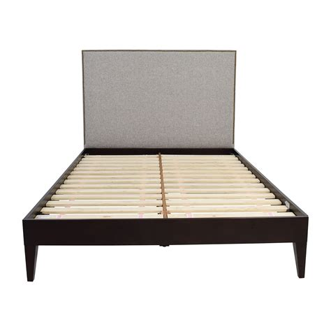 simple white bed frame west elm simple low bed frame assembly 28 images west