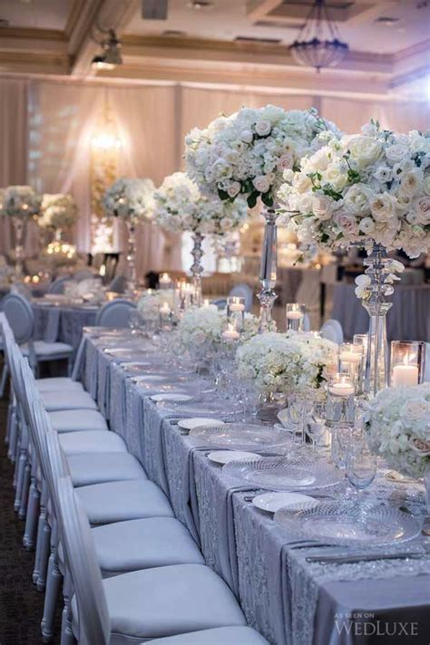silver table decorations for best 25 silver wedding decorations ideas on