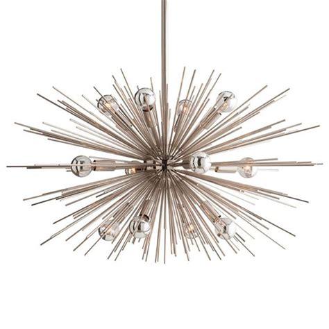 sunburst chandelier sunburst polished nickel modern industrial sputnik