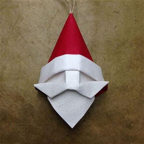 origami santa origami santa ornament