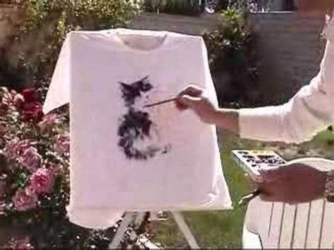 acrylic painting on clothes painting t shirt using fabric acrylic paints