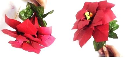 origami flower poinsettia origami poinsettia flower by lycorisa on deviantart