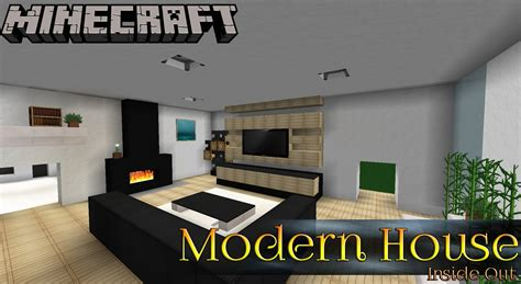 design house inside out modern house ep2 minecraft inside out