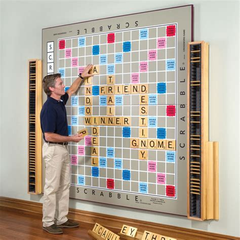 magnetic scrabble board for wall the world s largest scrabble only 12 000 the