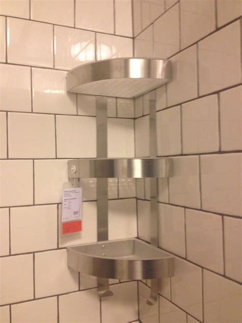 corner shelves for shower ikea shower grundtal corner wall shelf unit stainless