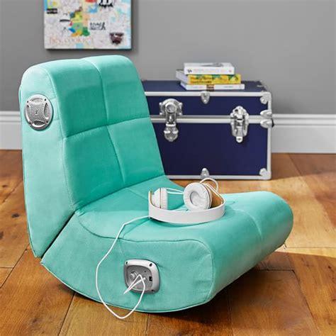 Teenage Girls Bedroom Decorating Ideas suede mini rocker speaker chair pbteen