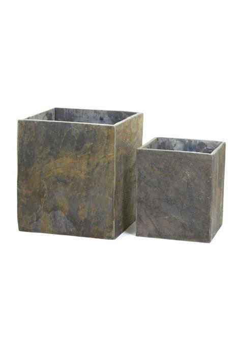 square planter slate square planter