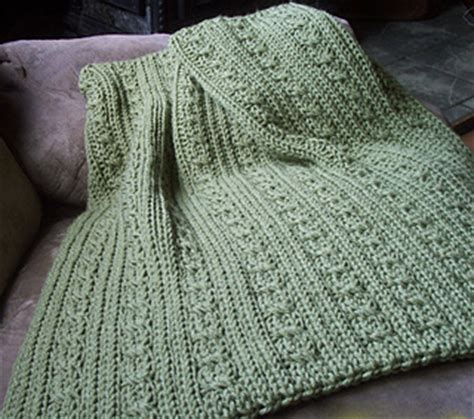 simple loom knit blanket ravelry loom knit cables and ribs baby blanket pattern by