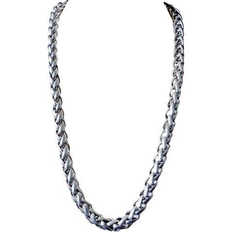 silver chain for jewelry vintage sterling silver 8 mm thick necklace 65 9