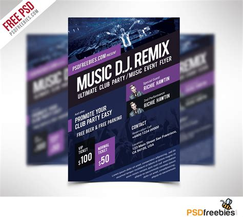 flyer template free event flyer template free psd psdfreebies