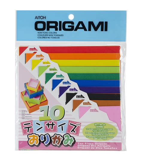 what is the standard size of origami paper aitoh asst sizes origami paper 100 pk jo