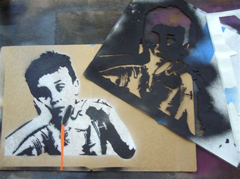 spray paint with stencils creating complex spraypaint stencils by