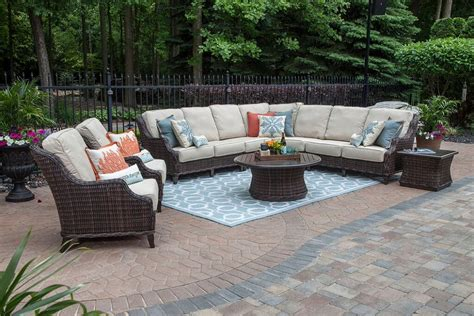 seating patio furniture sets mila collection 9 all weather wicker patio furniture