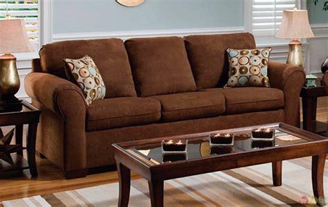 brown living room furniture chocolate brown microfiber sofa and seat living room