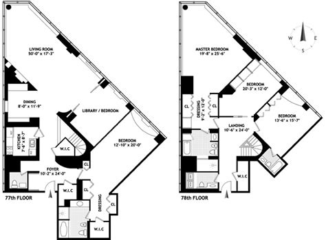 interesting floor plans penthouses with unique floorplan in manhattan new york nyc real estate sales nyc hotel