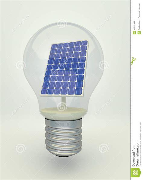 solar panel for light solar panel in light bulb stock photo image 40091989