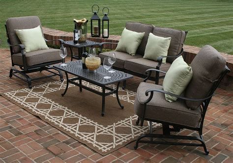 seating patio furniture sets herve 5 seating furniture set oal7144
