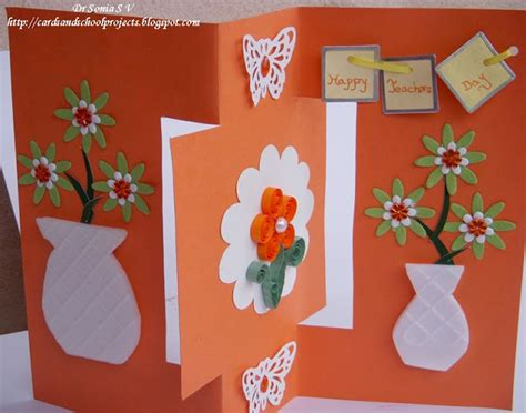 card ideas for teachers day cards crafts projects teachers day card recycled